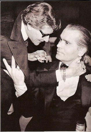 Yves Saint Laurent & Karl Lagerfeld