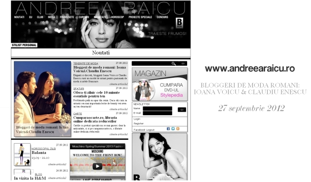 Andreea Raicu, fashion magazine, fashion & beauty