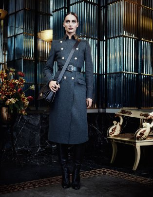 Karmen Pedaru, military trend, baroque, fall winter 2012 2013, salvatorre ferragamo, fashion ad campaign
