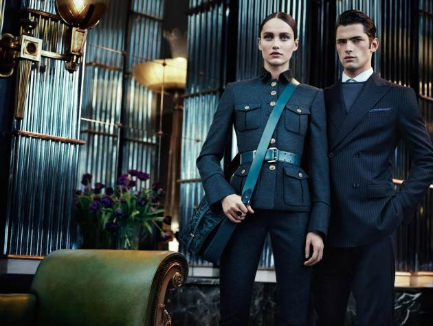 Karmen Pedaru, Sean O'Pry, Ferragamo, fall winter 2012 1013, fashion ad campaign