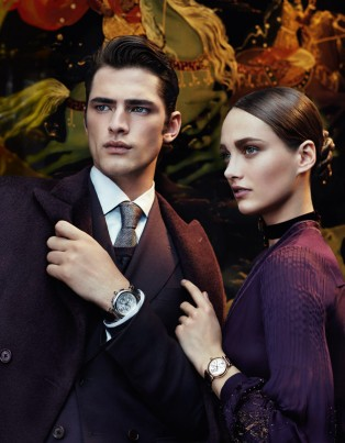 Salvatore Ferragamo, fall winter 2012-2013, fashion ad campaign, karmen pedaru, sean o'pry, kate moss