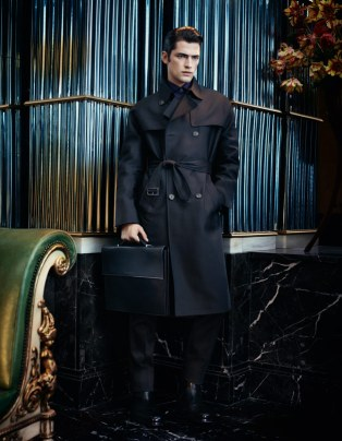 Salvatore Ferragamo, fall winter 2012-2013, fashion ad campaign, military, baroque, kate moss, sean o'pry, karmen pedaru