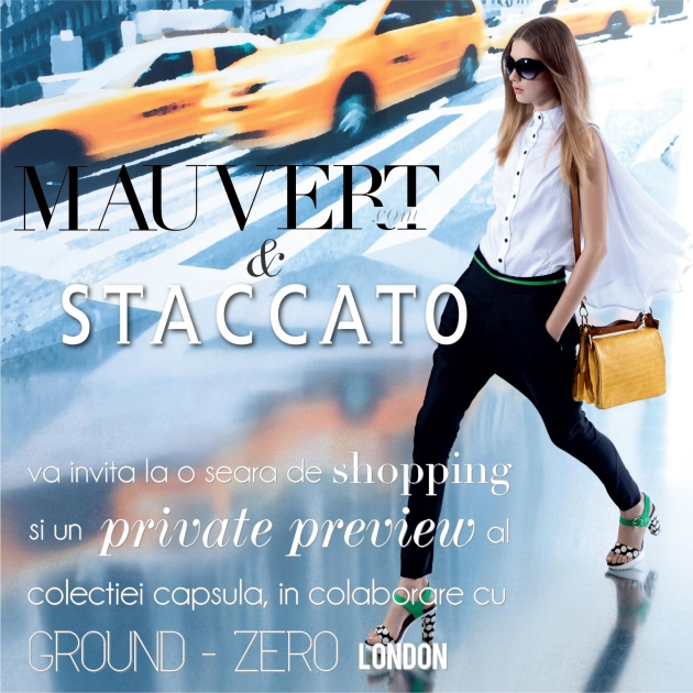 Staccato, pantofi staccato, mauvert, invitatie, private preview, Ground zero, shoes