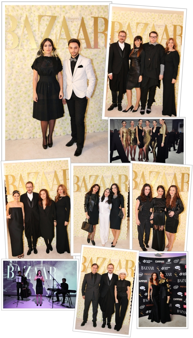 Harper's Bazaar, party, fashion party, cool people, black & white, fashion magazine