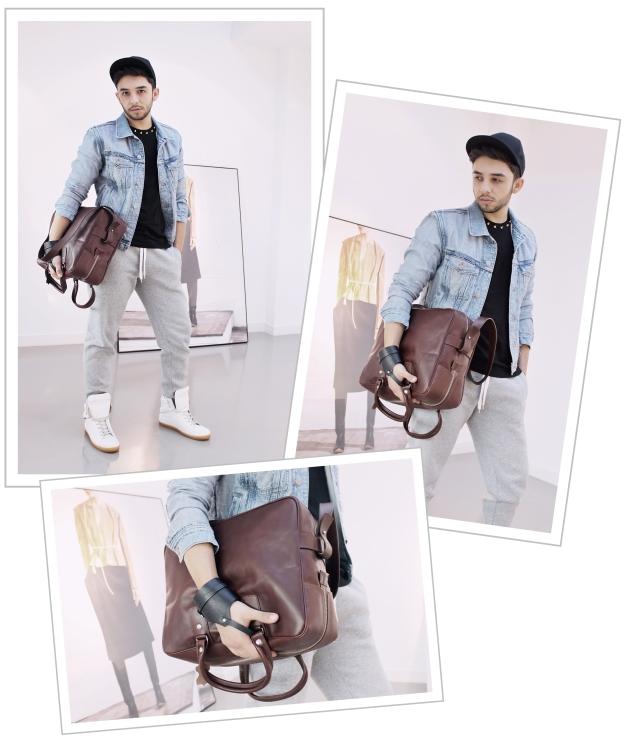Maison Martin Margiela, H&M, H&M showroom, Margiela for H&M, margiela clothes, denim, denim jacket, claudiu enescu, mauvert, margiela bag, sneakers