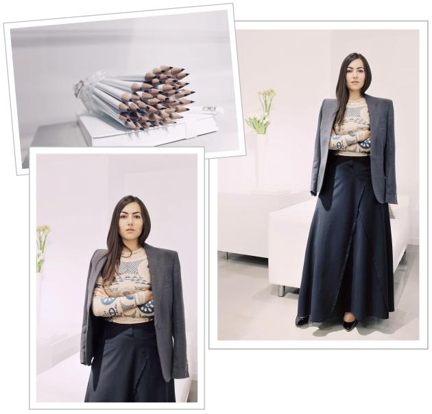 Maison Martin Margiela, H&M, H&M showroom, Margiela for H&M, margiela clothes, tattoo, tattoo blouse, ioana voicu, mauvert