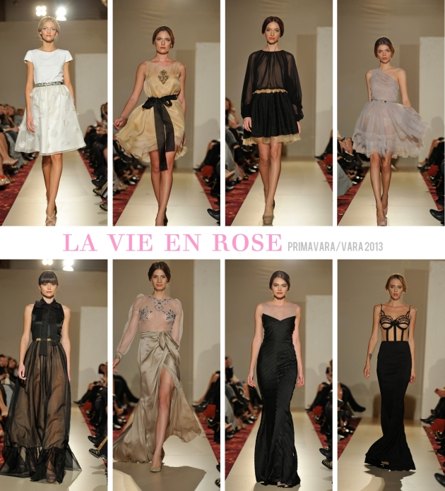 Rhea Costa, la vie en rose, fashion show, silk dress, dress, elegant, feminine,
