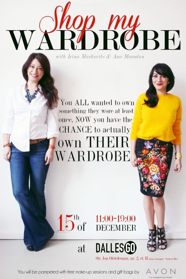 Shop my wardrobe, Ana Morodan, Irina Markovits, targ de moda, vintage fair