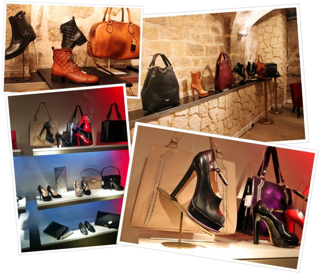 Musette leather accessories in Paris boutique