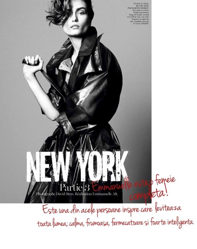 Andreea diaconu, vogue paris, emmanuelle alt, david sims, new york, mauvert, interviu andreea diaconu, top model,