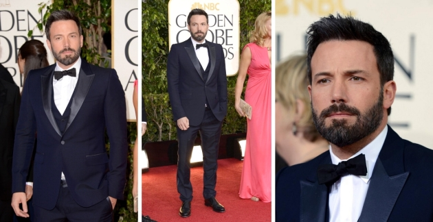 Ben Affleck, mauvert, smocking, black tie, golden globe 2013, globurile de aur, top vedete, covorul rosu, red carpet