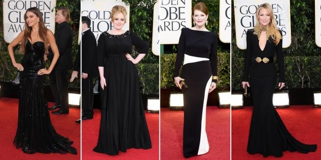 Sofia Vergara, Adele, Julianne Moore, Kate Hudson, golden globe 2013, globurile de aur 2013, mauvert, covor rosu, top vedete, red carpet