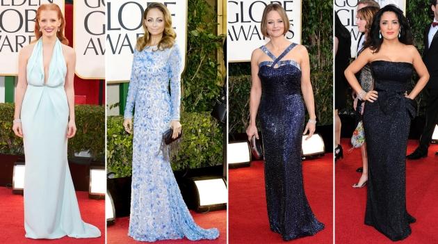 Jessica Chastain, Nicole Richie, Jodie Foster, Salma Hayek, golden globe 2013, globurile de aur 2013, mauvert, covor rosu, top vedete, red carpet,