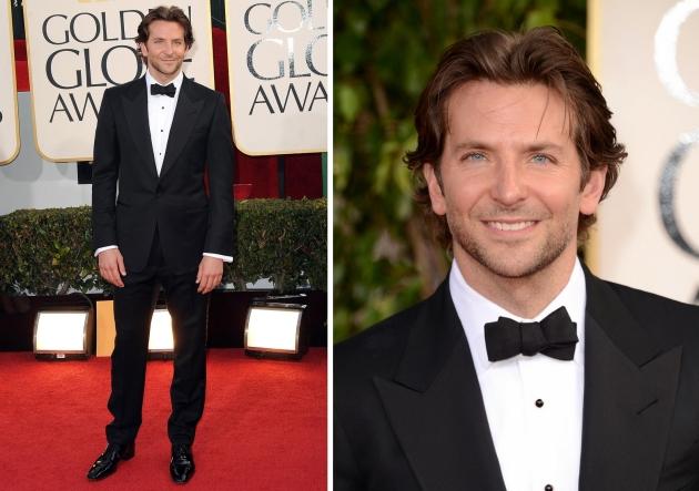 Bradley Cooper, mauvert, smocking, black tie, golden globe 2013, globurile de aur, top vedete, covorul rosu, red carpet