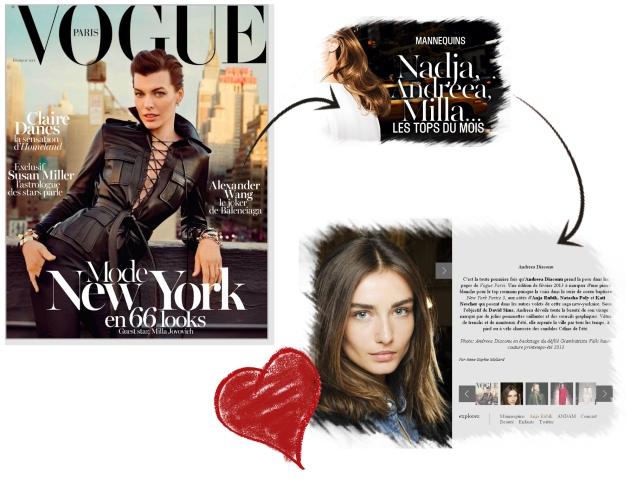Andreea diaconu, vogue paris, emmanuelle alt, david sims, new york, mauvert, interviu andreea diaconu, top model, milla jovovich, vogue paris februarie 2013