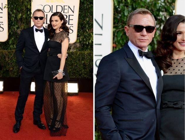 Daniel Craig, mauvert, smocking, black tie, golden globe 2013, globurile de aur, top vedete, covorul rosu, red carpet