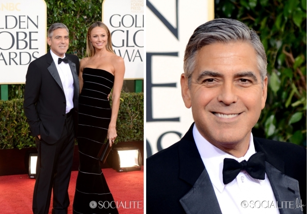 George Clooney, mauvert, smocking, black tie, golden globe 2013, globurile de aur, top vedete, covorul rosu, red carpet