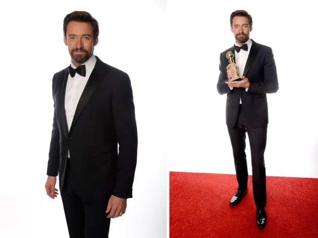Hugh Jackman, mauvert, smocking, black tie, golden globe 2013, globurile de aur, top vedete, covorul rosu, red carpet