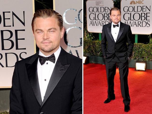 Leonardo DiCaprio, mauvert, smocking, black tie, golden globe 2013, globurile de aur, top vedete, covorul rosu, red carpet