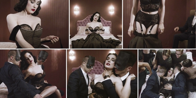 Dita Von Teese, monarchy, disintegration, housewife, erotic, mauvert, fashion film, videoclip, burlesque, pin-up, style