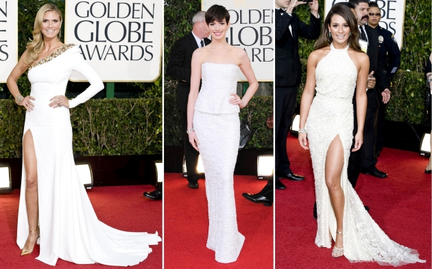 Heidi Klum, Anne Hathaway, Lea Michele, golden globe 2013, globurile de aur 2013, mauvert, covor rosu, red carpet, top vedete