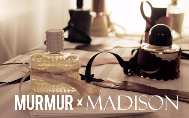 colaborare, masti, accesorii murmur, accesorii fetis, cadouri femei, madison, murmur, mauvert, parfumuri scumpe