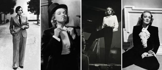 Marlene Dietrich, mauvert, costumul feminin, femei elegante, anii 30, pantaloni femei