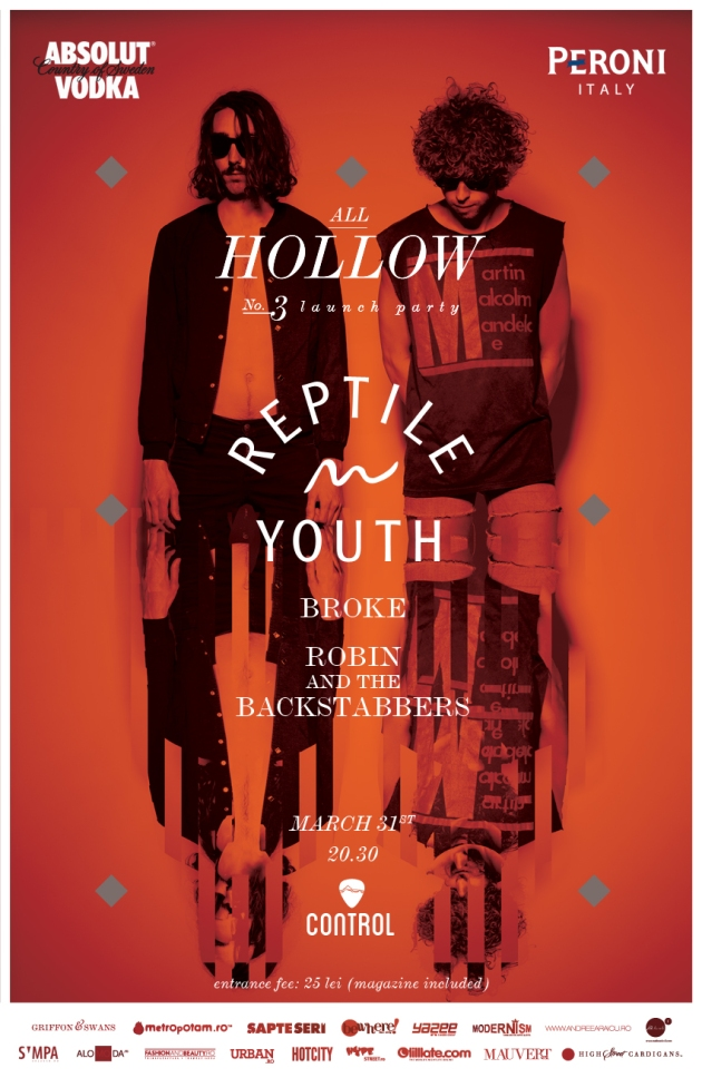 All hollow, reptile youth, mauvert, concert reptile youth, club control,