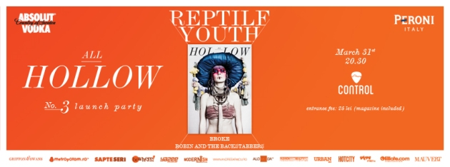 All hollow, reptile youth, mauvert, concert reptile youth, club control, crina semciuc