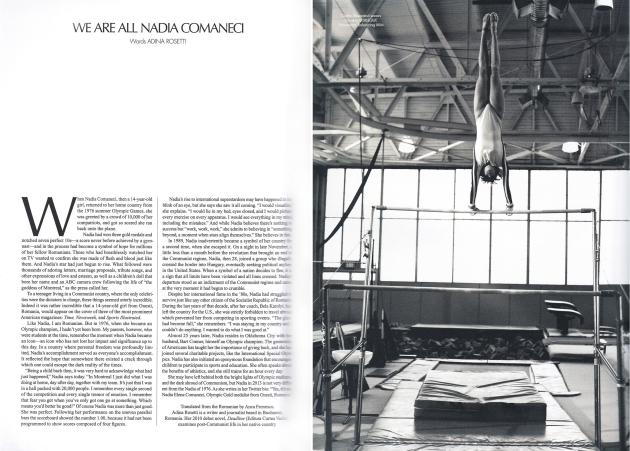 Nadia Comaneci, Nadia, CR fashion book, Carine Roitfeld, mauvert, ballet, gymnist