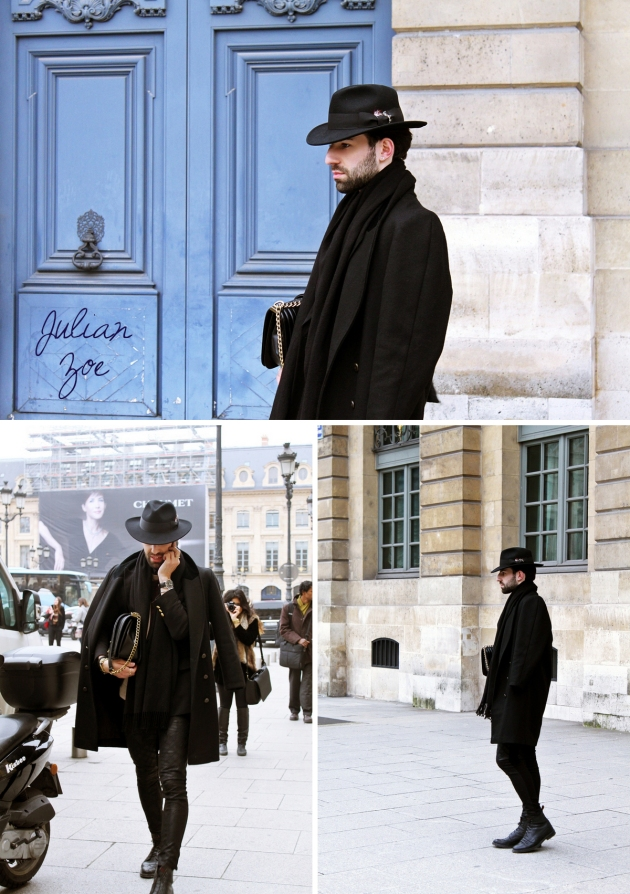 Julian Zoe, mauvert, paris, paris fashion week, isabel marant, place vendome, street style