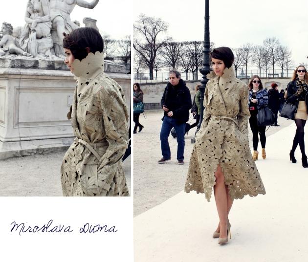 miroslava duma, mauvert, paris, paris fashion week, valentino, tuilleries, street style