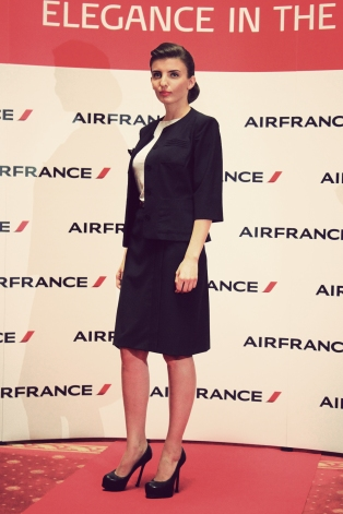 Air France, Elegance in the sky, uniforme, uniforme stewardese, uniforme vintage, armark, mauvert, christian lacroix