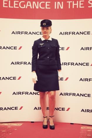 Air France, Elegance in the sky, uniforme, uniforme stewardese, uniforme vintage, armark, mauvert, cristobal balenciaga, balenciaga