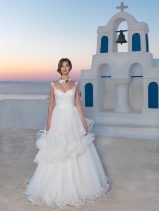 Natalia Vasiliev, mauvert, mirese, rochie de mireasa, miresici, grecia, santorini, dantela, rochie dantela
