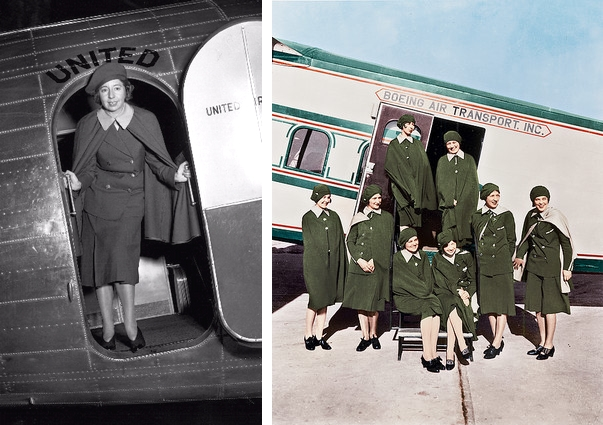 Ellen Church, prima stewardesa din lume, stewardess, first stewardess, mauvert, fashion uniform, uniforme