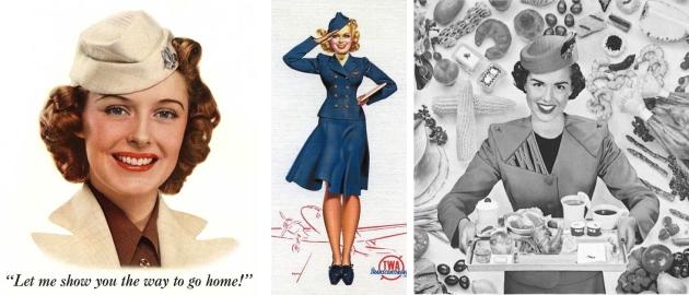 stewardess, airfrance, mauvert, uniforme, vintage