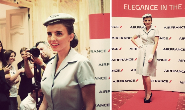 Air France, Elegance in the sky, uniforme, uniforme stewardese, uniforme vintage, armark, mauvert, maison virginie
