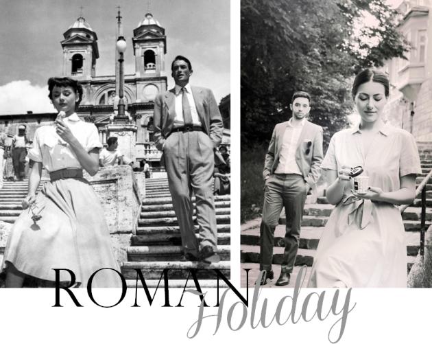 a roman holiday, mauvert, audrey hepburn, la stada, gelato, ice cream, italia, la dolce vita,