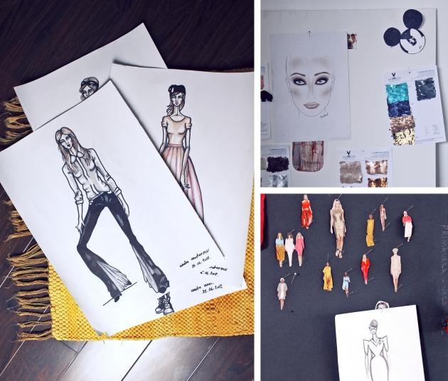 Andra Andreescu, designer, showroom, atelier croitorie, showroom andra andreescu, designeri tineri, mauvert, idei decoratiuni, design interior, cool space, sketch, schite, design vestimentar