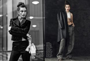 andreea diaconu, romania, model, top model, mariano vivanco, vogue, vogue spania, mauvert,
