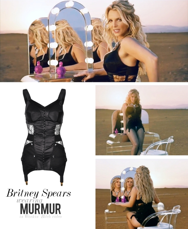 Britney Spears, MURMUR, zest corset, corset, lace, erotic, workin bitch, video, britney, mauvert, murmur fall winter