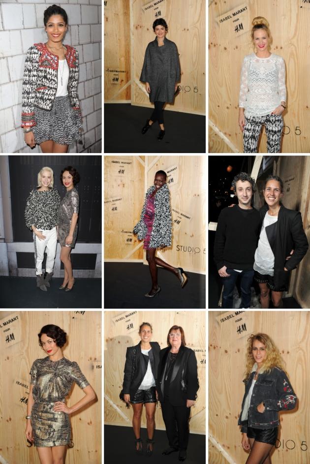 Parisul a celebrat lansarea colectiei Isabel Marant pour H&M www.mauvert.com