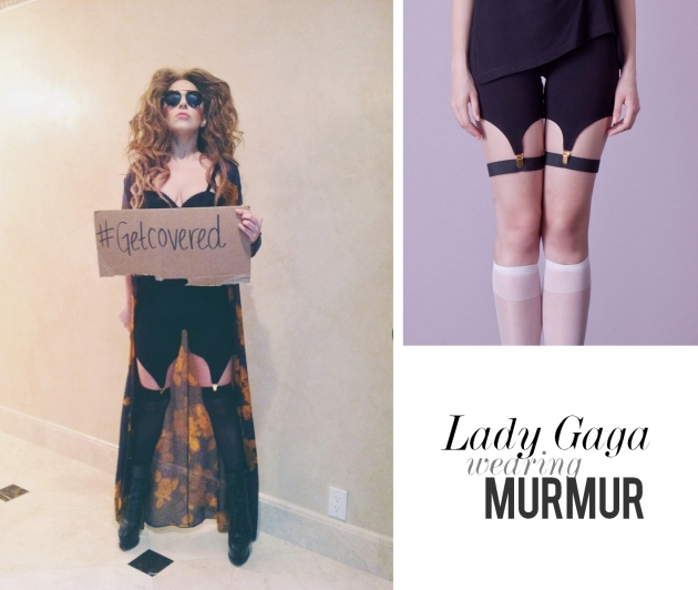 Lady Gaga, Gaga, outfit, cool, stylish, MURMUR, leggins, corset, lace, erotic, mauvert, murmur fall winter
