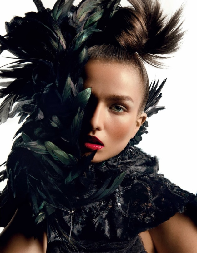 Andreea Diaconu by Inez & Vinoodh - VOGUE Paris october 2013