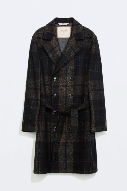 Palton in carouri, ZARA | 779.90 lei