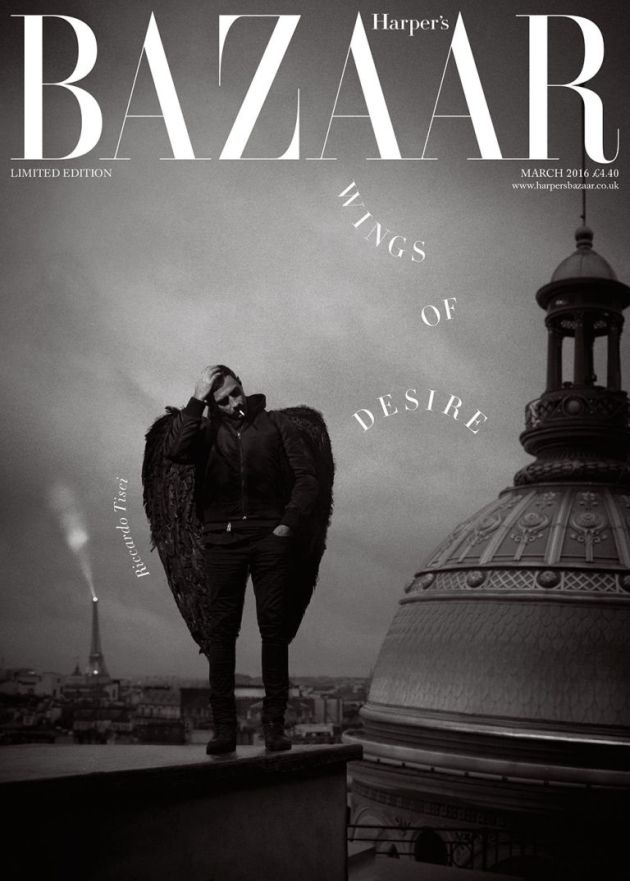Riccardo Tisci Givenchy Bazaar Uk Wings of Desire